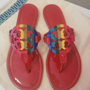 Tory Burch Miller Rainbow/Red Patent leather